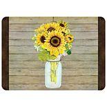"Bungalow Flooring Mason Jar Sunflowers Premium Comfort Mat - 22"" x 31"""
