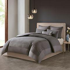 N Natori Cotton Blend 3-piece Duvet Cover