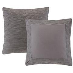 N Natori Cotton Blend Yarn Dyed Euro Sham