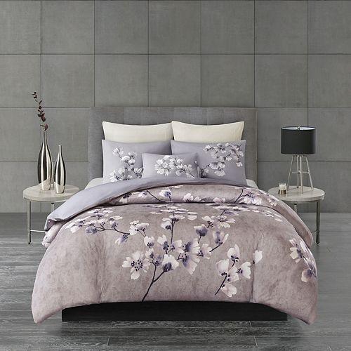 N Natori Sakura Blossom 3-piece Comforter Set