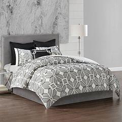 N Natori Geometric 3-piece Comforter Set
