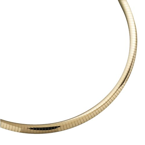 10k Gold-Bonded Sterling Silver and Sterling Silver Reversible Omega Necklace -17-in.