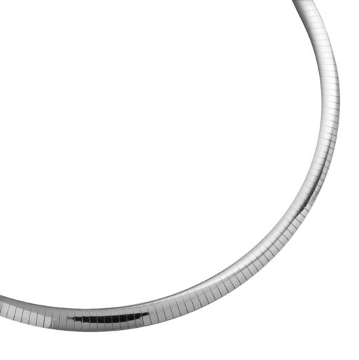 10k Gold-Bonded Sterling Silver and Sterling Silver Reversible Omega Necklace - 17-in.