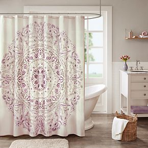 Madison Park Evelyn Printed Shower Curtain