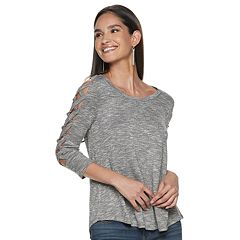1559407c032039 Women s Jennifer Lopez Strap Sleeve Top