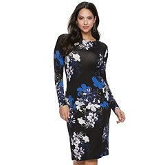 Women's Jennifer Lopez Sheath Midi Dress