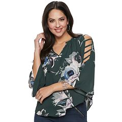 6f02be8f7399d2 Women s Jennifer Lopez Bar-Sleeve Peasant Top
