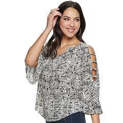 2b424657146 Women's Jennifer Lopez Bar-Sleeve Peasant Top