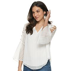 a55b11e7d90c67 Women s Jennifer Lopez Bar-Sleeve Peasant Top
