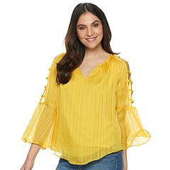 de6b90291cc031 Women s Jennifer Lopez Bar-Sleeve Peasant Top