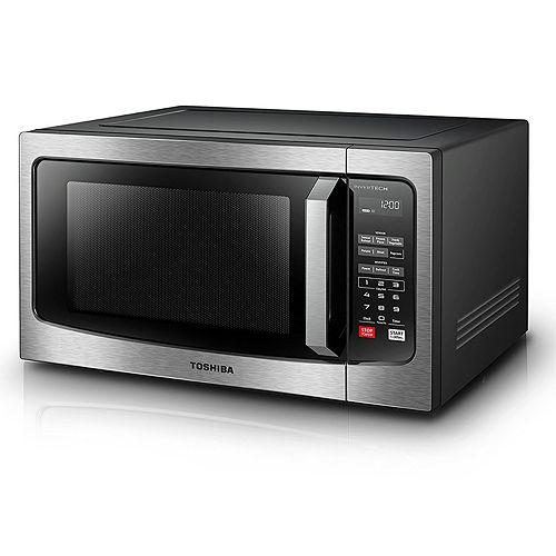 Toshiba 1200-Watt Stainless Steel Microwave with Inverter Technology