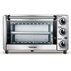 Toshiba 4-Slice Stainless Steel Toaster Oven