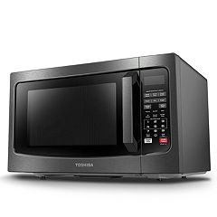 Toshiba 1100-Watt Black Stainless Steel Microwave with Smart Sensor