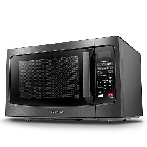 Toshiba 1100-Watt Black Stainless Steel Microwave with Smart Sensor