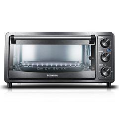 Toshiba 6-Slice Black Stainless Steel Toaster Oven