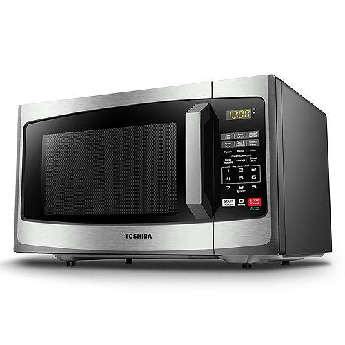 Toshiba 900-Watt Stainless Steel Microwave