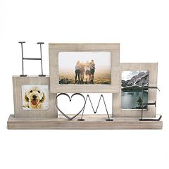 Stratton Home Decor Heart 3-Opening Collage Frame