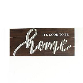 """Stratton Home Decor """"It's Good To Be Home"""" Wall Decor"""