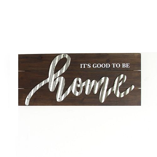 "Stratton Home Decor ""It's Good To Be Home"" Wall Decor"