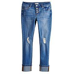 Girls 7-16 Mudd® Distressed Roll Cuff Skinny Jeans