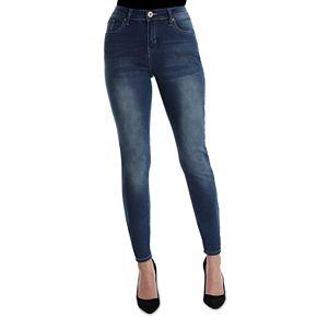 Women's Hydraulic Embellished Midrise Skinny Jeans