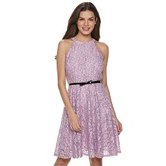 Women's ELLE™ Lace Fit & Flare Dress