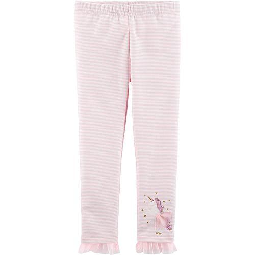 Baby Girl Carter's Striped Tulle-Hem Leggings