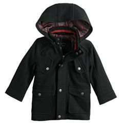 Baby Boy Urban Republic Wool Military Hooded Midweight Jacket
