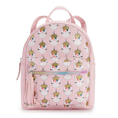 OMG Accessories Rainbow Crown Unicorn Mini Backpack