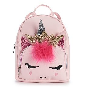 OMG Accessories Glitter Crown Unicorn Mini Backpack