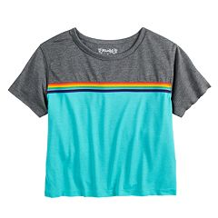 Girls 7-16 Mudd® Rainbow Striped Tee