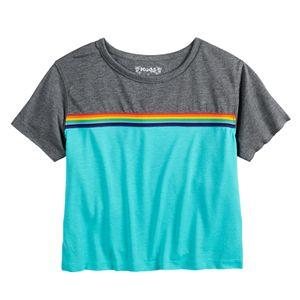 Girls 7-16 Mudd Rainbow Striped Tee