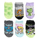 Disney / Pixar Toy Story Girls 4-6x 6-pack No-Show Socks