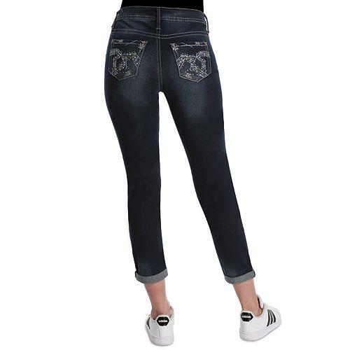Women's Hydraulic Cuffed Midrise Skinny Jeans
