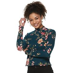 Juniors' Candie's® Mock Neck Top