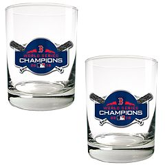 Boston Red Sox 2018 World Series Champions Rock Glass Set