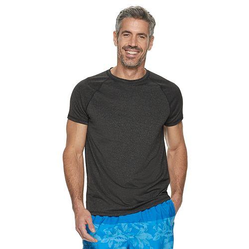Men's Croft & Barrow® Raglan Rash Guard Swim Tee
