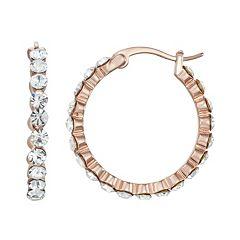 Chrystina Crystal Hoop Earrings