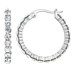 Chrystina Crystal Hoop Earrings