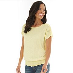 Women's Apt. 9® Elastic-Hem Dolman-Sleeve Top