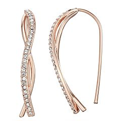 Chrystina Crystal Curved Stick Earrings