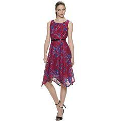 Women's ELLE™ Base Novelty Handkerchief Hem Dress