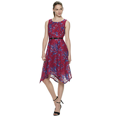 Women's ELLE? Base Novelty Handkerchief Hem Dress