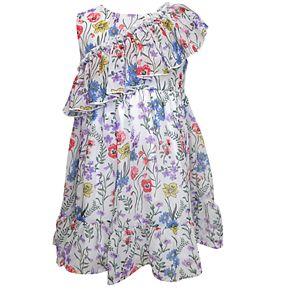 Girls 4-6x Blueberi Boulevard Floral Ruffle Chiffon Dress
