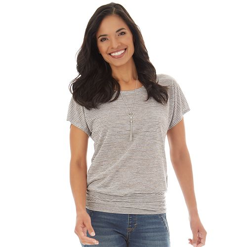 Women's Apt. 9® Lattice-Back Banded-Hem Top