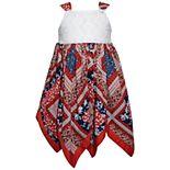 Girls 4-6x Blueberi Boulevard Patriotic Handkerchief-Hem Sundress