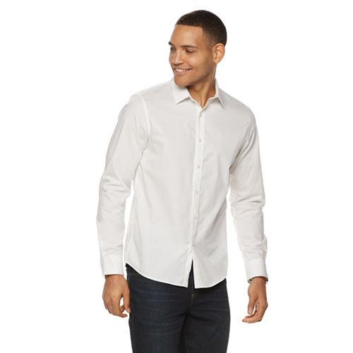 Big & Tall Apt. 9® Premier Flex Regular-Fit No-Iron Button-Down Shirt