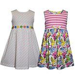 Girls 4-6x Blueberi Boulevard 2-pack Printed Dresses