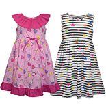 Girls 4-6x Blueberi Boulevard 2-pack Heart Print Dresses