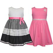 Girls 4-6x Blueberi Boulevard 2-pack Colorblock & Solid Dresses